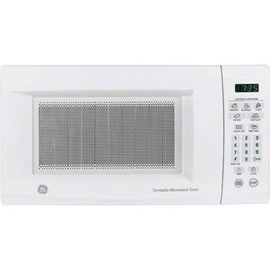Ge 0 7 Cu Ft 700 Watt Countertop Microwave White