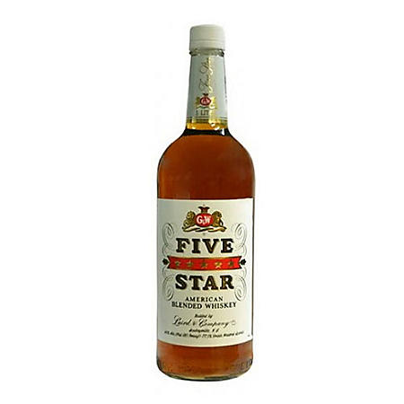 G & W Five Star American Blended Whiskey (1 L)