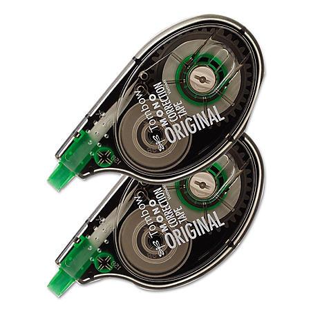 """Tombow® MONO Correction Tape, Non-Refillable, 1/6"""" x 394"""", White Tape, 2pk."""