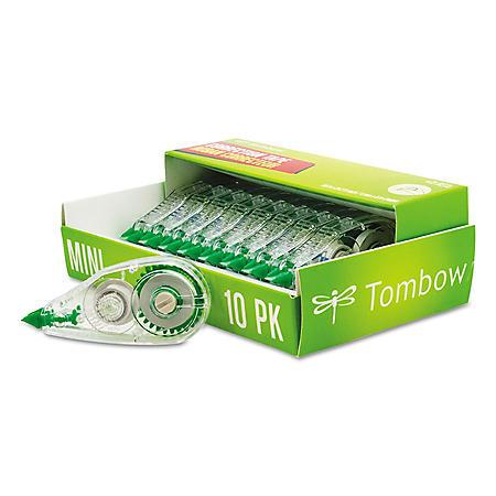 """Tombow® MONO Mini Correction Tape, 1/6"""" x 315"""", Non-Refillable, 10pk."""