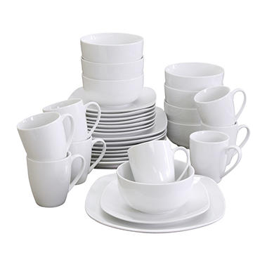 Gibson Elite Pippa Dinnerware Set - White Porcelain - 32 pc.