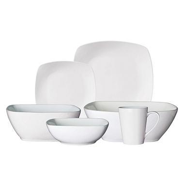 Gibson Dinnerware Set White Porcelain - 34 pcs.  sc 1 st  Samu0027s Club & Gibson Dinnerware Set White Porcelain - 34 pcs. - Samu0027s Club