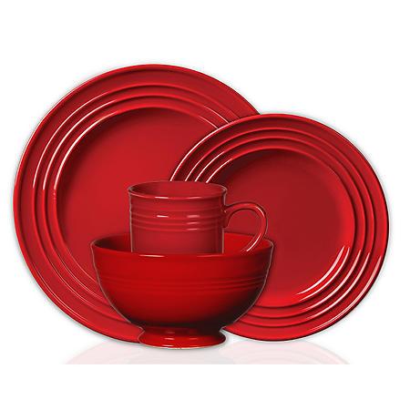 Colorsplash 16 pc. Stanza Stoneware Dinnerware Set