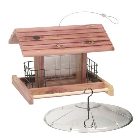 The Gatehouse Suet-N-Seed Feeder with Squirrel Baffle Bundle