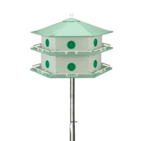 15' Telescoping Purple Martin House Pole Kit with 12-Room Aluminum House