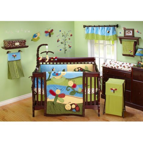 NoJo Crib Bedding Set, 11 pc. - Critter Babies