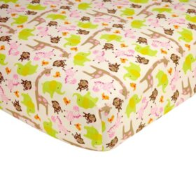 Carter's Fitted Crib Sheet, Jungle