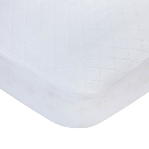 Carter's Fitted Crib Mattress Pad, White