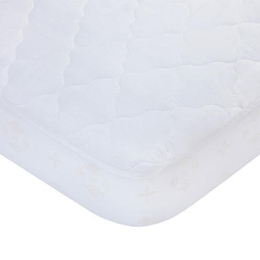 Carter's Fitted Quilted Crib Pad, White