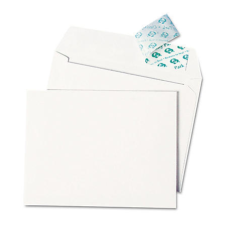 Quality Park - Greeting Card/Invitation Envelope, Contemporary, Redi-Strip,#51/2, White - 100/Box