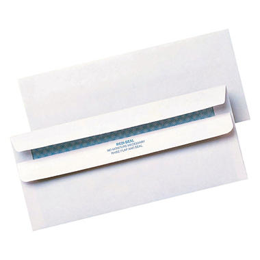 Quality Park - Redi-Seal Security Tinted Envelope, Contemporary, #10, White - 500/Box
