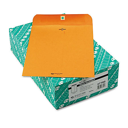 Columbian - Clasp Envelope, 9 x 12, 32lb, Light Brown - 100/Box