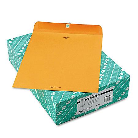 "Quality Park - Clasp Envelope, 11 1/2"" x 14 1/2"", Brown Kraft - 100/Box"