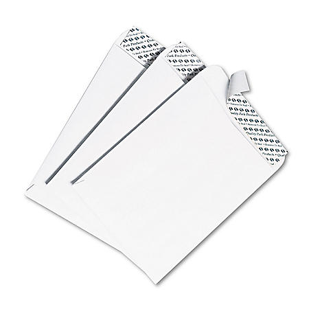 Quality Park - Redi Strip Catalog Envelope, 9 1/2 x 12 1/2, White -  100/Box