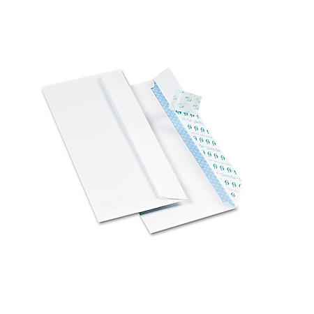 Quality Park - Redi-Strip Security Tinted Envelope, Contemporary, #10, White - 500/Box