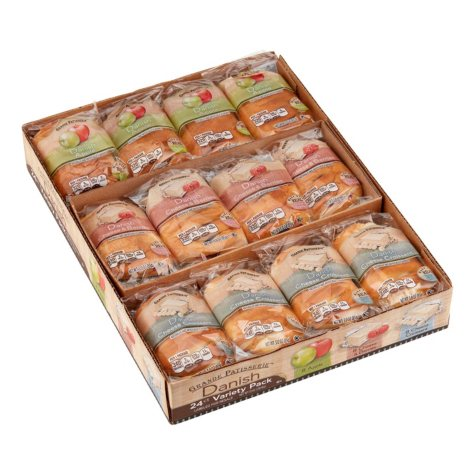 Grande Patisserie Variety Pack Danish - 3 oz. - 24 ct.