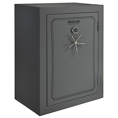 Stack-On Total Defense 69-Gun Safe with Electronic Lock - Gray