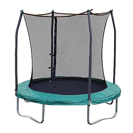 Skywalker Trampolines 8' Round Trampoline and Enclosure - Green