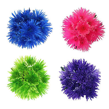 Spider Mums - Assorted Painted Glitter Neon - 60 Stems