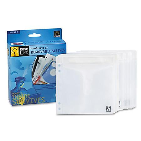 Case Logic ProSleeve II CD/DVD Sleeves - 50 Pack