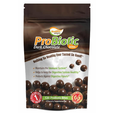 Healthy Delights ProBiotic Dark Chocolate Bites - 120 ct.