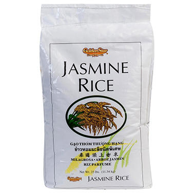 Golden Star Vietnamese Jasmine Rice 25 lb.