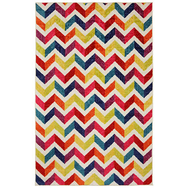 Mixed Chevrons Prism Rug