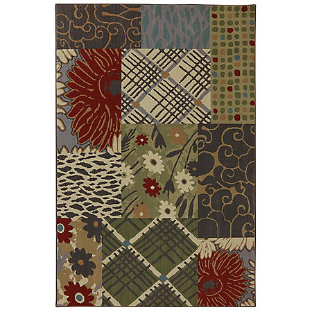 American Rug Craftsman Symphony Collection - Emporia Patchwork Saddle