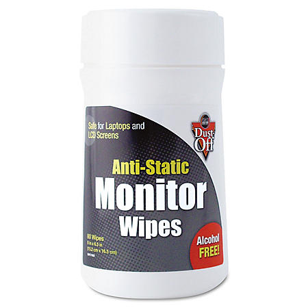 Dust-Off Pre-Moistened Monitor Cleaning Wipes - 80 ct.
