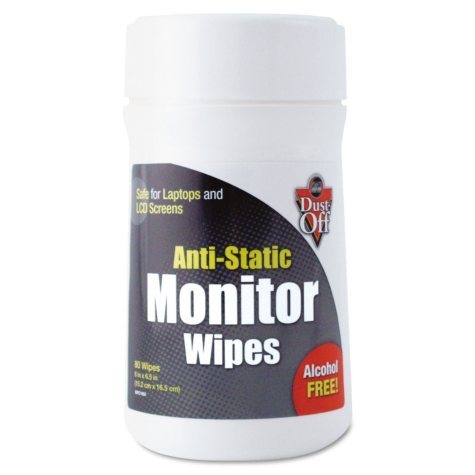 Dust-Off Premoistened Monitor Cleaning Wipes - 80 ct.