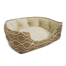 "Canine Creations Memory Foam Quilted Nest Pet Bed, Bamboo (29"" x 24"" x 9"")"