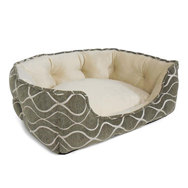 Canine Creations Memory Foam Quilted Nest Pet Bed, Charcoal (29