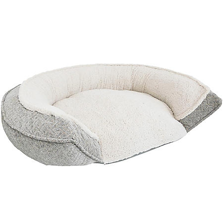 "Canine Creations Memory Foam Cuddler Pet Bed,  45"" x 34"" - Gray"