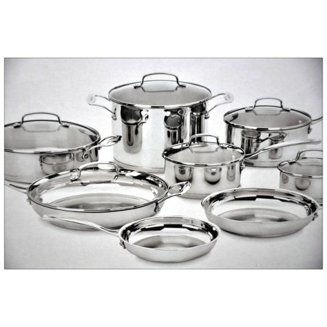 Cuisinart 14-Piece Classic Stainless Cookware Set
