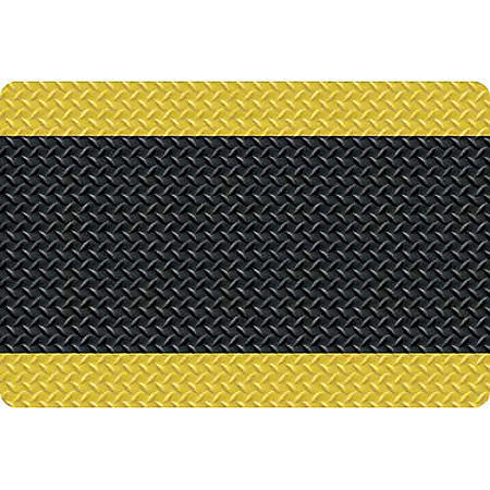 Diamond Foot Anti-fatigue Mat, Black/Yellow (2' x 3')