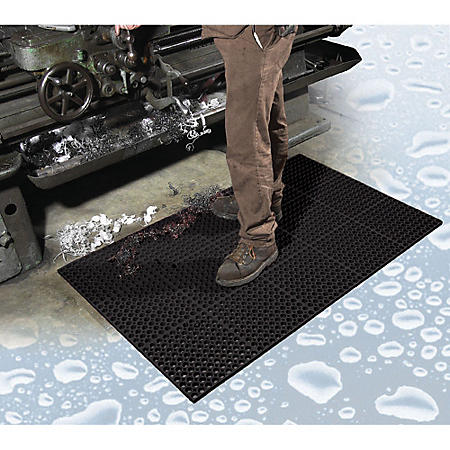 "TruTread™ Anti-fatigue Drainage Mat, Black (3"" x 5"" x .75"" Thick)"