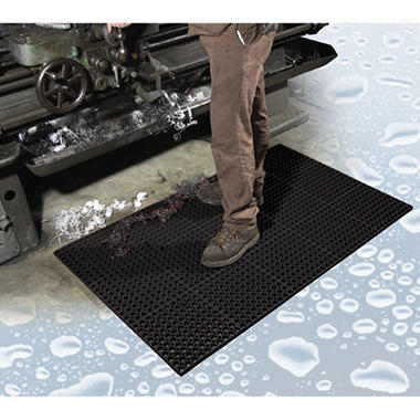 Tru Tread Anti-Fatigue Drainage Mat, Black (36