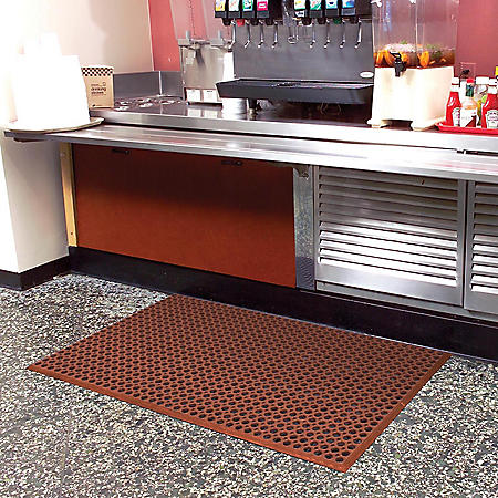 "Grease-Resistant WorkStep™ Mat, Red (36"" x 60"" x .5"" Thick)"