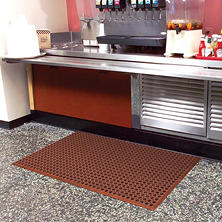 "Grease-Resistant Workstep, Red (36"" x 60"" x .5"")"