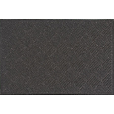 Heavy-Duty Commercial Crosshatch™ EcoMat, Charcoal (Choose You Size)