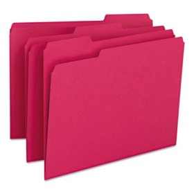 Smead 1/3 Cut Assorted Positions File Folders, Select Color (Letter, 100ct.)