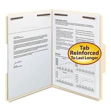 Smead 1/3 Cut Assorted Positions File Folder, Two Fasteners, Letter, Manila, 50ct.