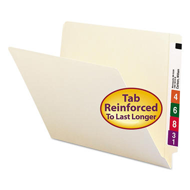 Smead Two-Ply End Tab Shelf Folders, Manila (Letter, 100ct.)