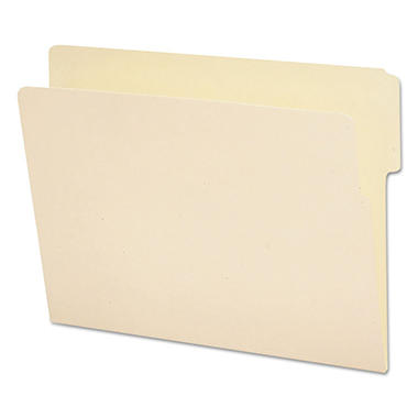 Smead 1/3 Cut Reinforced Top End Tab File Folders, Letter, Manila, 100ct.