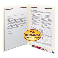 Smead Reinforced Straight End Tab Two Fastener Heavyweight File Folder, Manila (Letter, 50ct.)