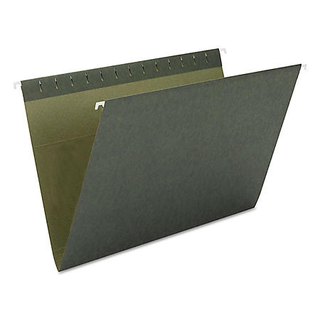 Smead 1/5 Cut Adjustable Positions Hanging File Folders, Green (Letter, 25ct.)
