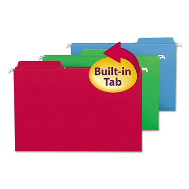 Smead FasTab Hanging Folders, Assorted Colors (Legal, 18ct.)