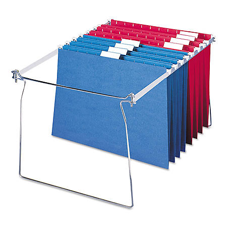 "Smead Steel Hanging Folder Frame for Drawers, 23-27"" Long (Letter,  2ct.)"