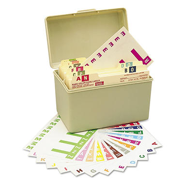 Smead Alpha-Z Color-Coded First Letter Combo Alpha Labels Starter Set, A-Z, 1500ct.