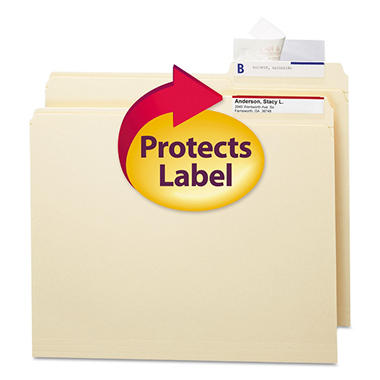 Smead Seal & View File Folder Label Protector, Clear Laminate, 100ct.